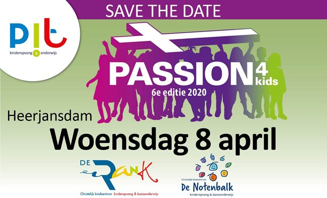 Save the date Passion4kids 2020 De Rank en De Notenbalk web